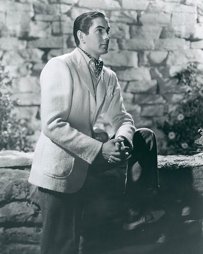 This is an image of 190135 Tyrone Power Photograph & Poster
