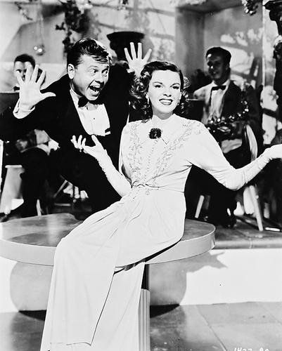 This is an image of 168063 Judy Garland & Mickey Rooney Photograph & Poster