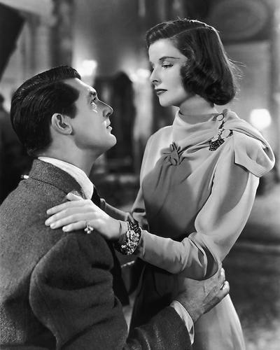 This is an image of 172308 Cary Grant & Katharine Hepburn Photograph & Poster