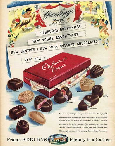 This is an image of Vintage Reproduction of Cadbury's Milk Tray 297312