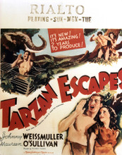 This is an image of Vintage Reproduction of Tarzan Escapes 297009