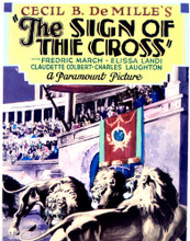 This is an image of Vintage Reproduction of The Sign of the Cross 297019