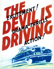 This is an image of Vintage Reproduction of The Devil is Driving 296965