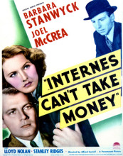 This is an image of Vintage Reproduction of Internes Can't Take Money 296973