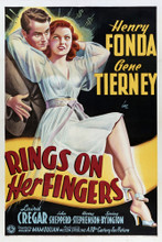 This is an image of Vintage Reproduction of Rings on Her Fingers 294969