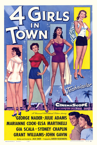 This is an image of Vintage Reproduction of 4 Girls in Town 295084