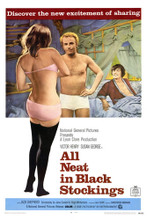 This is an image of Vintage Reproduction of All Neat in Black Stockings 295124