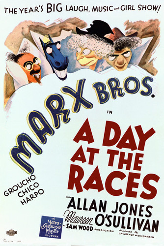 This is an image of Vintage Reproduction of A Day at the Races 295371