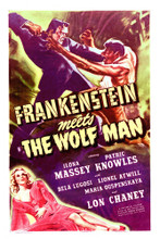 This is an image of Vintage Reproduction of Frankenstein Meets the Wolf Man 295386
