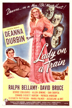 This is an image of Vintage Reproduction of Lady on a Train 297043