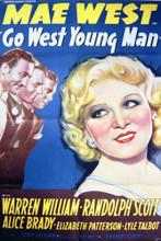This is an image of Vintage Reproduction of Go West Young Man 297057