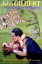 This is an image of Vintage Reproduction of Flesh and the Devil 297068