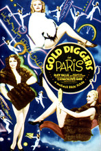 This is an image of Vintage Reproduction of Gold Diggers in Paris 297115