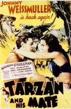 This is an image of Vintage Reproduction of Tarzan and His Mate 297687