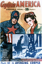 This is an image of Vintage Reproduction of Captain America 297700