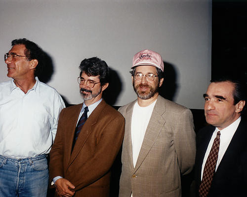 This is an image of Photograph & Poster of Steven Spielberg and George Lucas 286612