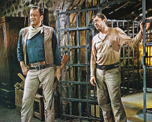 This is an image of 242747 John Wayne & Robert Mitchum Photograph & Poster