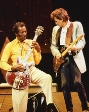 This is an image of 254267 Chuck Berry and Keith Richards Photograph & Poster