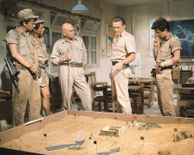 This is an image of 280840 Kirk Douglas as Col. David 'Mickey' Marcus and Yul Brynner as Asher Gonen in Cast a Giant Shadow