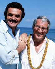 This is an image of 288547 Perry Como and Burt Reynolds Photograph & Poster