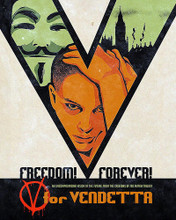 This is an image of 292549 V for Vendetta Photograph & Poster