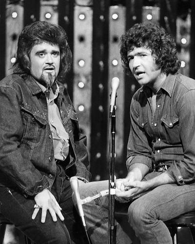 This is an image of 192291 Mac Davis and Wolfman Jack Photograph & Poster