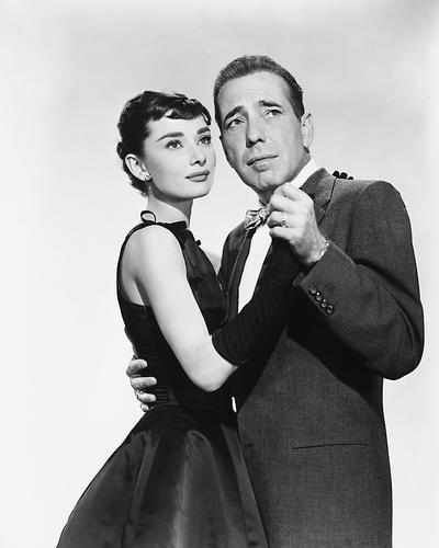 This is an image of 169712 Audrey Hepburn & Humphrey Bogart Photograph & Poster