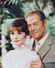 This is an image of 216541 Audrey Hepburn & Rex Harrison Photograph & Poster