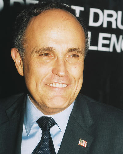 This is an image of 250219 Rudolph Giuliani Photograph & Poster