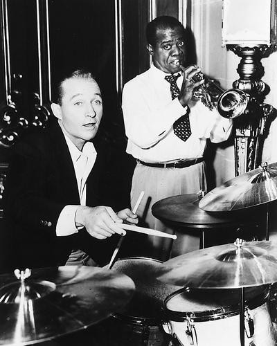 This is an image of 174964 Bing Crosby and Louis Armstrong Photograph & Poster
