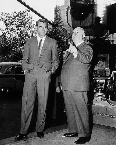 This is an image of 176193 Cary Grant & Alfred Hitchcock Photograph & Poster