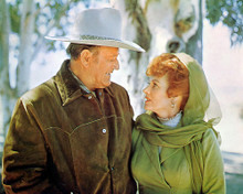 This is an image of 223744 John Wayne & Maureen O'Hara Photograph & Poster