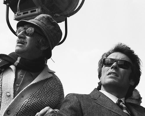 This is an image of 176185 Clint Eastwood & Don Siegel Photograph & Poster