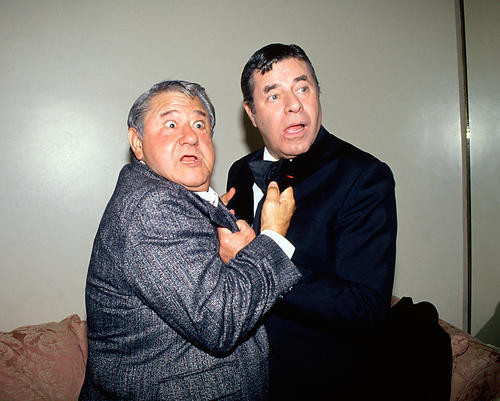 This is an image of 271014 Jerry Lewis & B Hackett Photograph & Poster