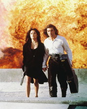 This is an image of 216493 Antonio Banderas & Salma Hayek Photograph & Poster