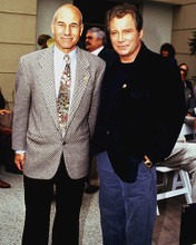 This is an image of 227530 William Shatner & Patrick Stewart Photograph & Poster