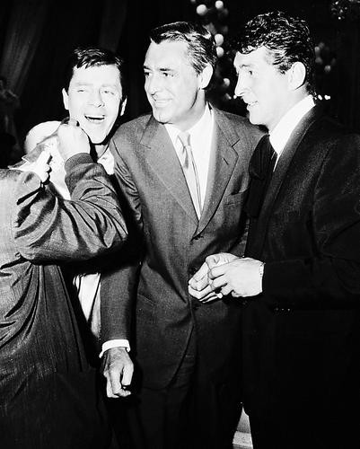 This is an image of 168704 Cary Grant & Dean Martin & Jerry Lewis Photograph & Poster