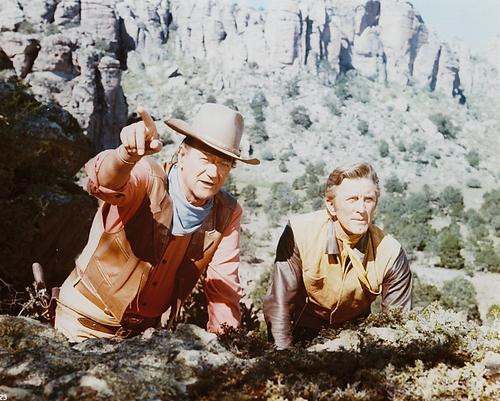 This is an image of 225937 John Wayne & Kirk Douglas Photograph & Poster