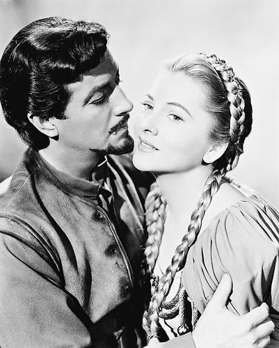 This is an image of 170335 Robert Taylor & Joan Fontaine Photograph & Poster