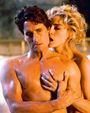 This is an image of 247566 Sharon Stone & Michael Douglas Photograph & Poster