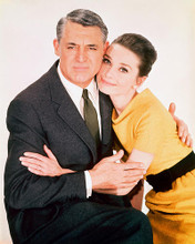 This is an image of 250241 Audrey Hepburn & Cary Grant Photograph & Poster
