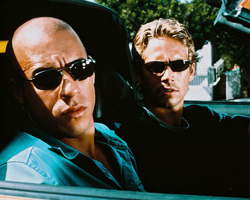 This is an image of 247312 Vin Diesel & Paul Walker Photograph & Poster