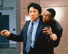 This is an image of 248548 Jackie Chan & Chris Tucker Photograph & Poster