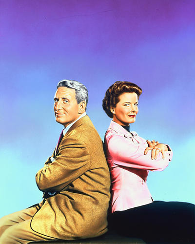 This is an image of 250904 Spencer Tracy & Katharine Hepburn Photograph & Poster