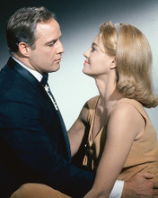 This is an image of 254285 Marlon Brando and Angie Dickinson Photograph & Poster