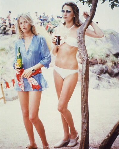 This is an image of 255304 Britt Ekland and Maud Adams Photograph & Poster