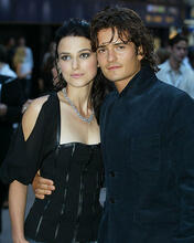 This is an image of 255605 Orlando Bloom & Keira Knightley Photograph & Poster