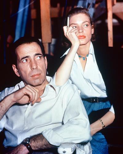 This is an image of 263743 Humphrey Bogart & Lauren Bacall Photograph & Poster