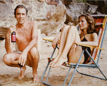 This is an image of 255346 Christopher Lee & Maud Adams Photograph & Poster