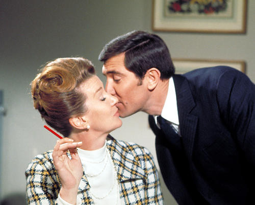 This is an image of 255967 George Lazenby and Lois Maxwell Photograph & Poster